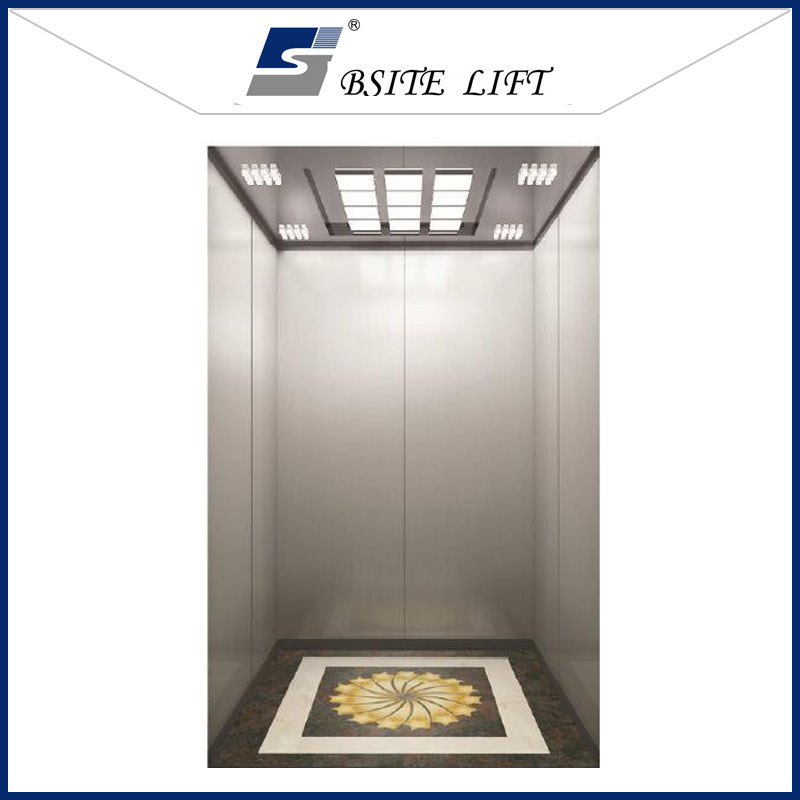 Hotel Passenger Lift with High Quality 304 Stainless Steel Cabin