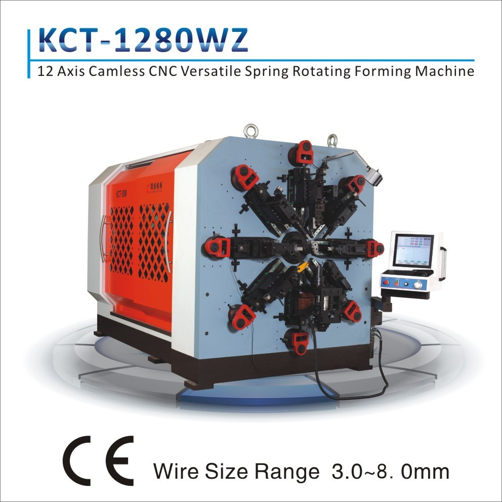 Kct-1280wz 8.5mm CNC Versatile Compression/ Extension/ Torsion Spring Forming Machine&Spiral Spring Machine with High Frequency Heating Device