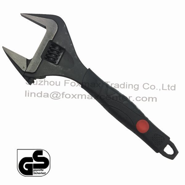 High Quality Professional Extra Wide Adjustable Wrench Spanner (WB-005)