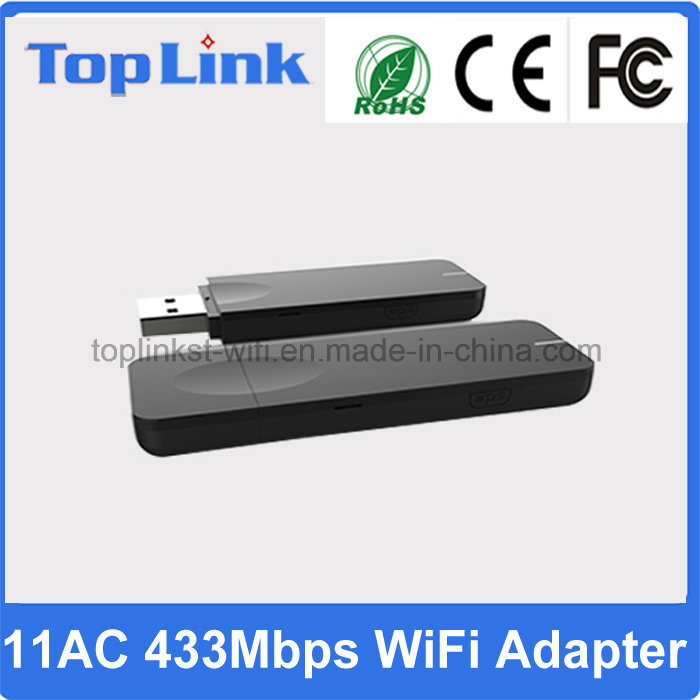 High Speed 802.11AC 433Mbps Mt7610u Dual Band Wireless WiFi USB Dongle for Android