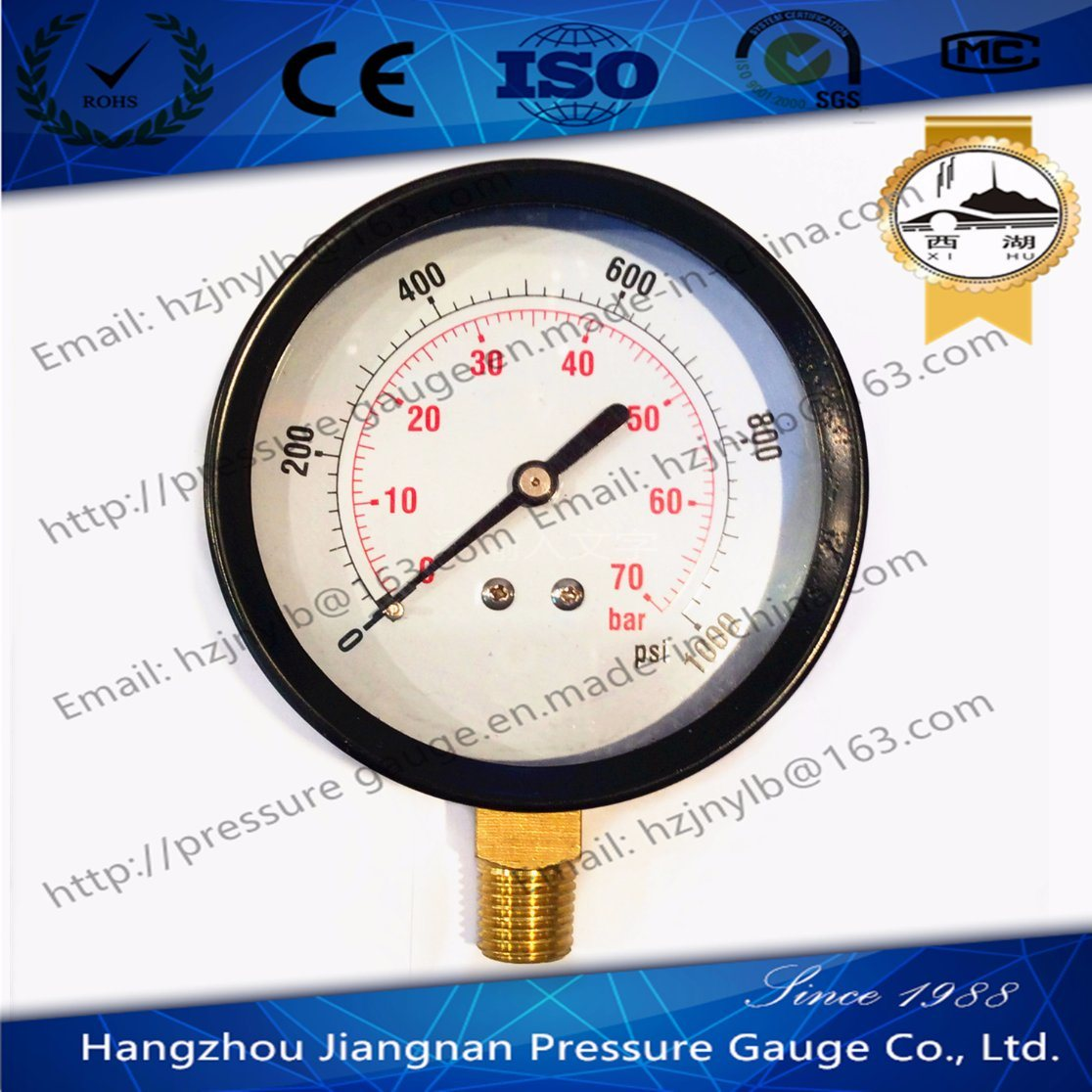 80mm General Air Pressure Gauge with Black Housing