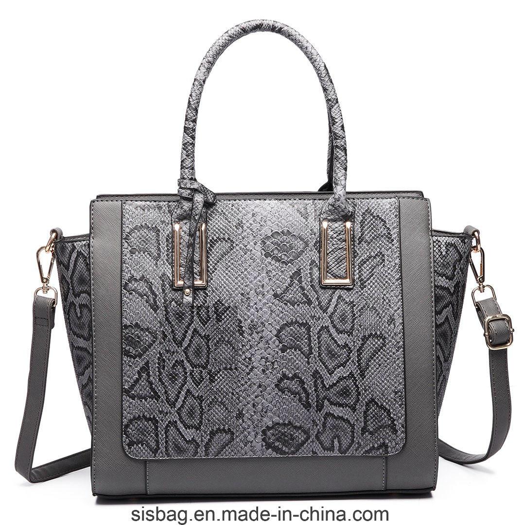 Designer Ladies PU Leather Handbag Crocodile Snake Shoulder Bag