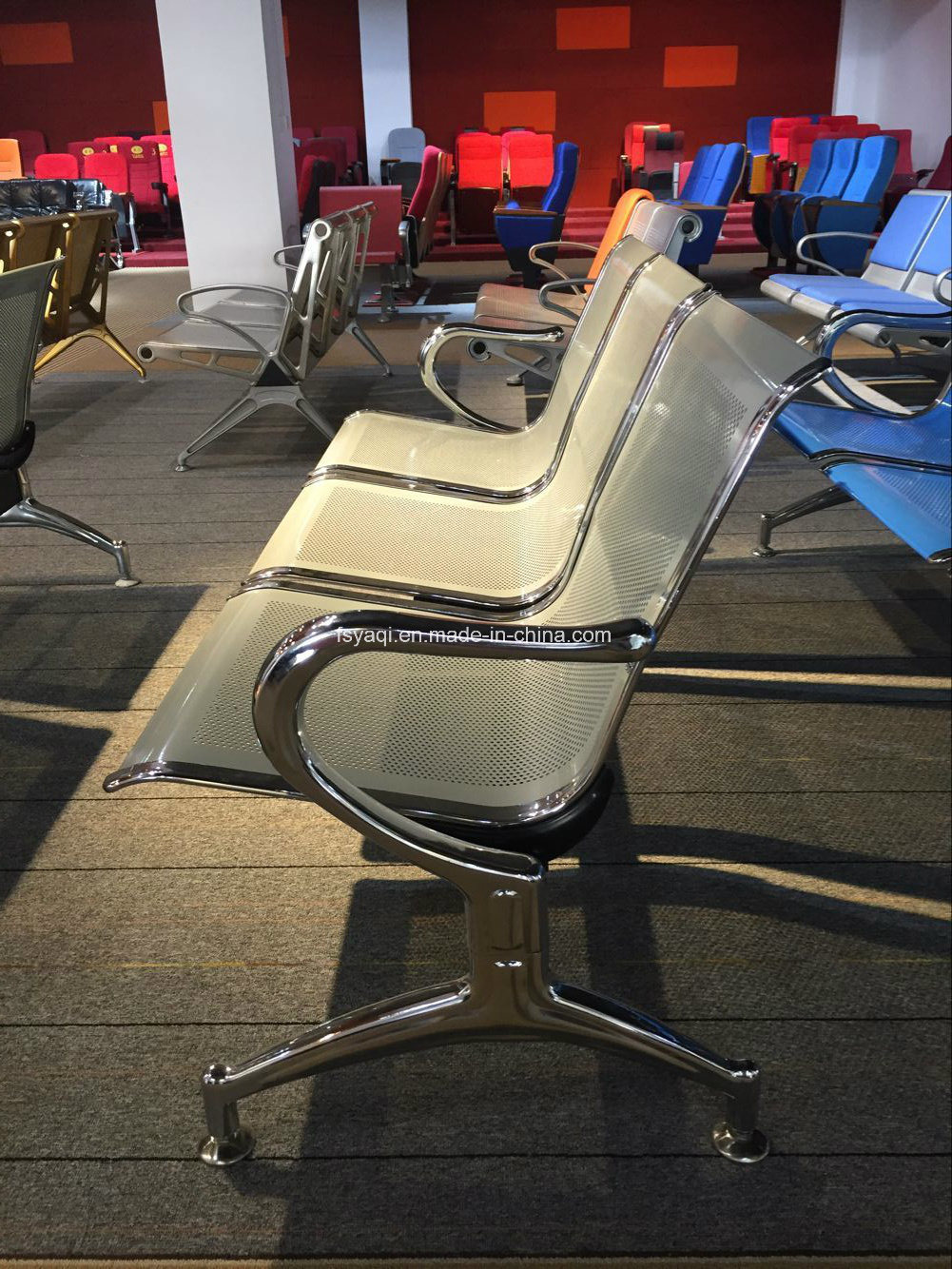 High Quality Airport Chair Public Hospital Waiting Chair Bench Office Visitor Chair Metal Home Furniture (YA-19)