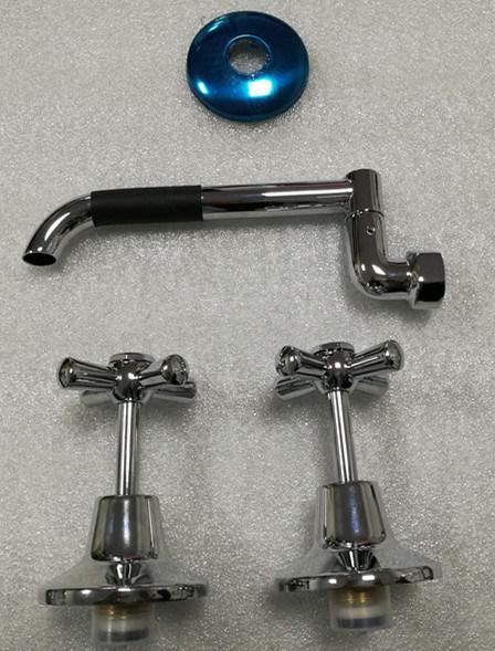 Wall Mounted Bath Bathroom Chrome Finished Shower Set (SL3080WA)