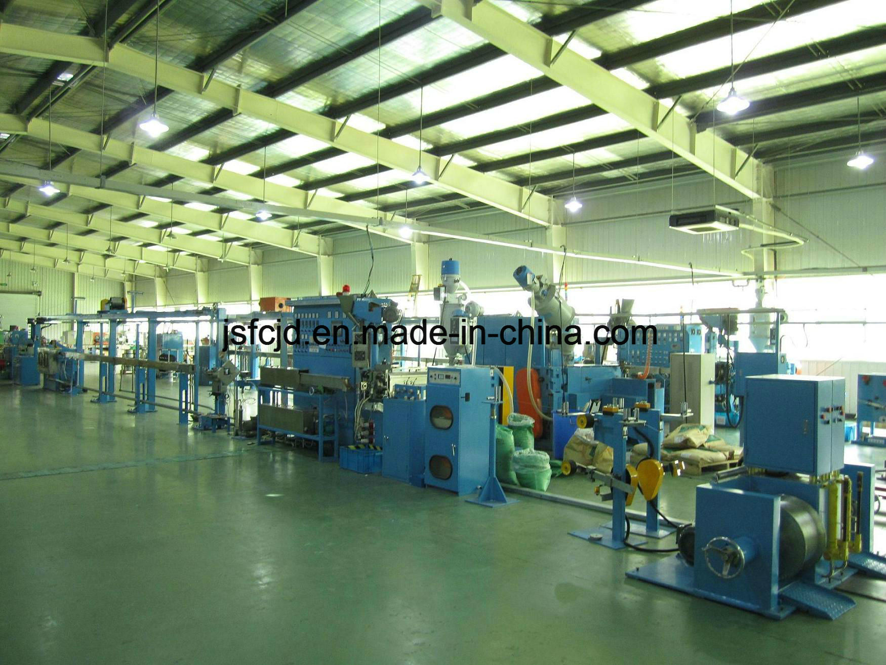 High Speed Electronic Cable Wire PVC, PP, PE, PTFE, Extruder (FC-50+35)