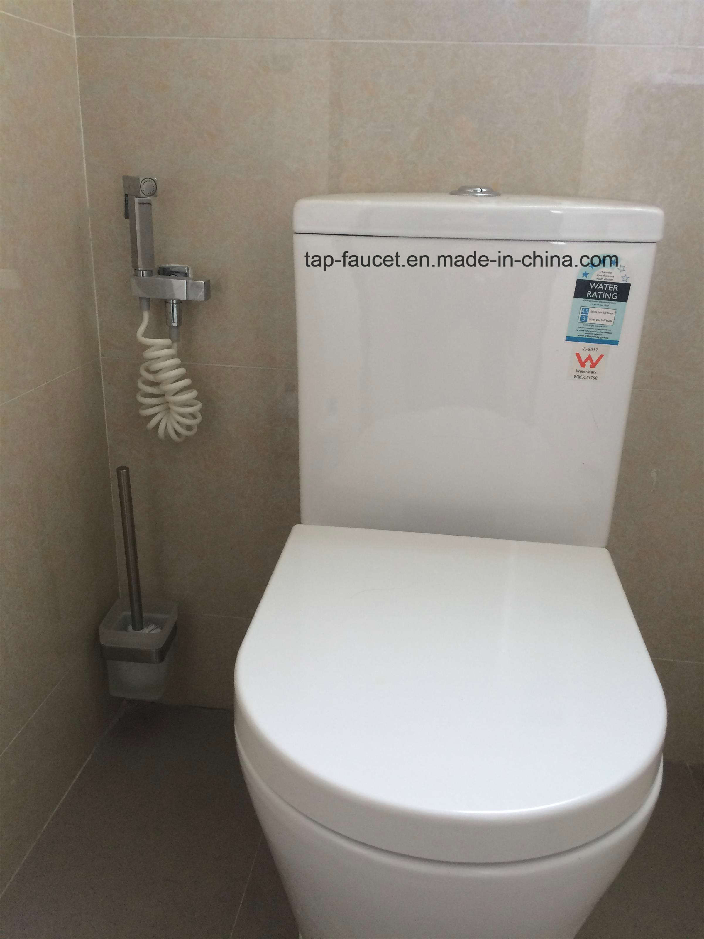 Modern Matte Black Designer Bathroom Fittings 5 Years Guarantee Toilet Brush