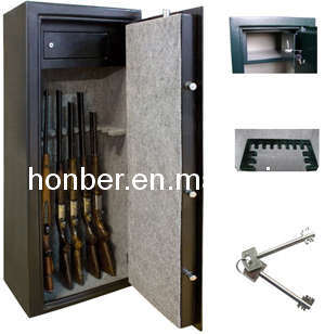 Steel Long Gun Safe of Key Lock and Handle