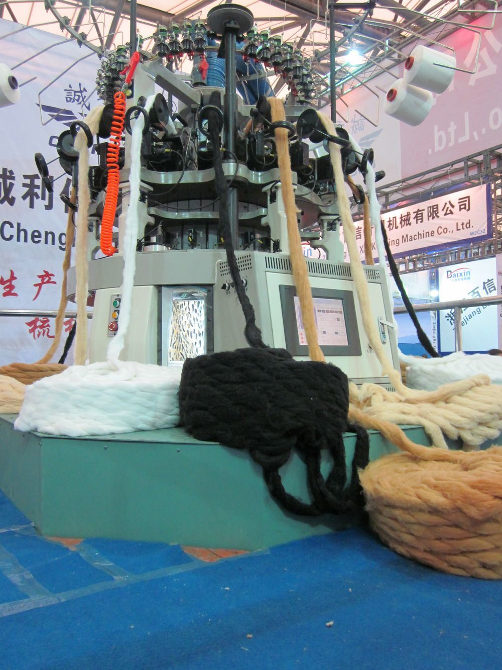 Fake Fur Computerized Circular Knitting Machine Plain Color (CLJ)