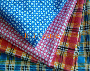 100%Cotton White Dyed Printed Flannel