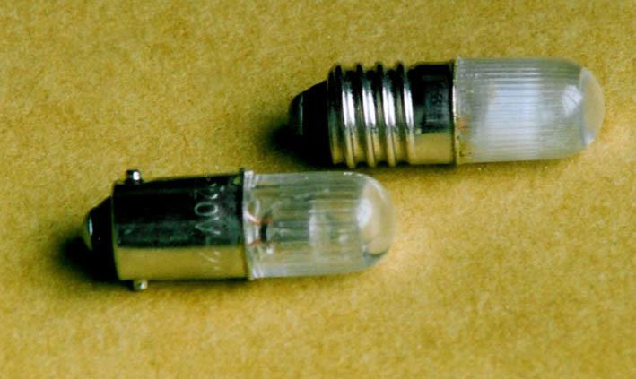 Plastic Shell Glow Lamp E10/BA9S