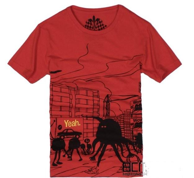 China Men Puff Printing 100 Cotton T Shirt Ct040