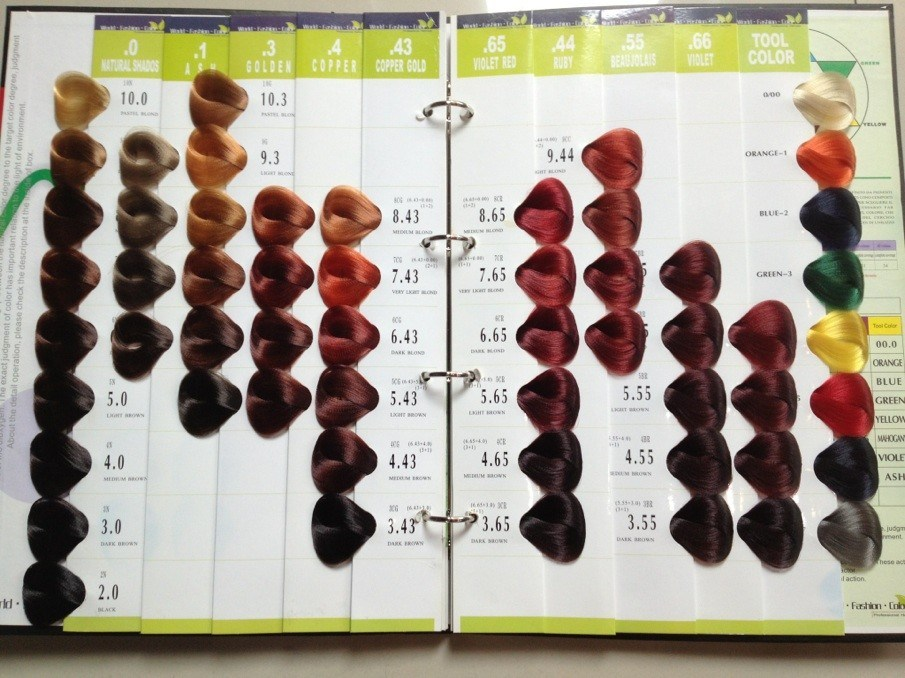 China 54 colors vb salon hair color chart china color for A salon to dye for