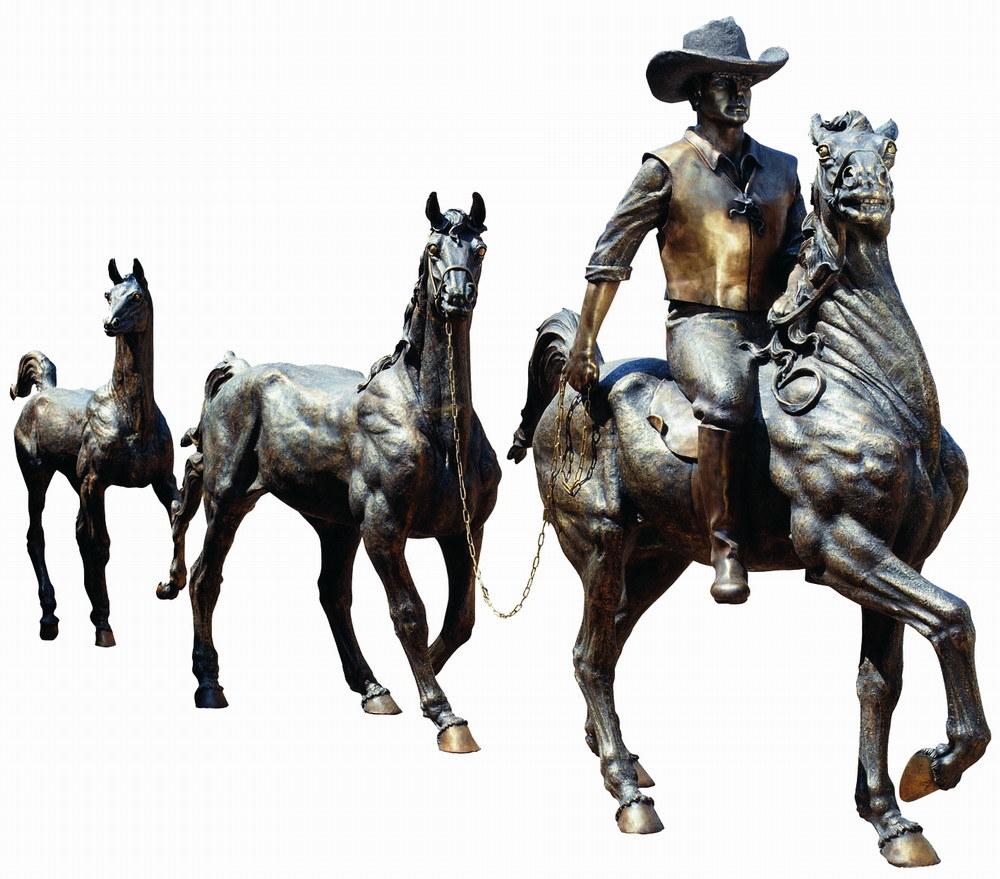 Bronze Horse Sculpture, Cast Bronze Statue (SL814)