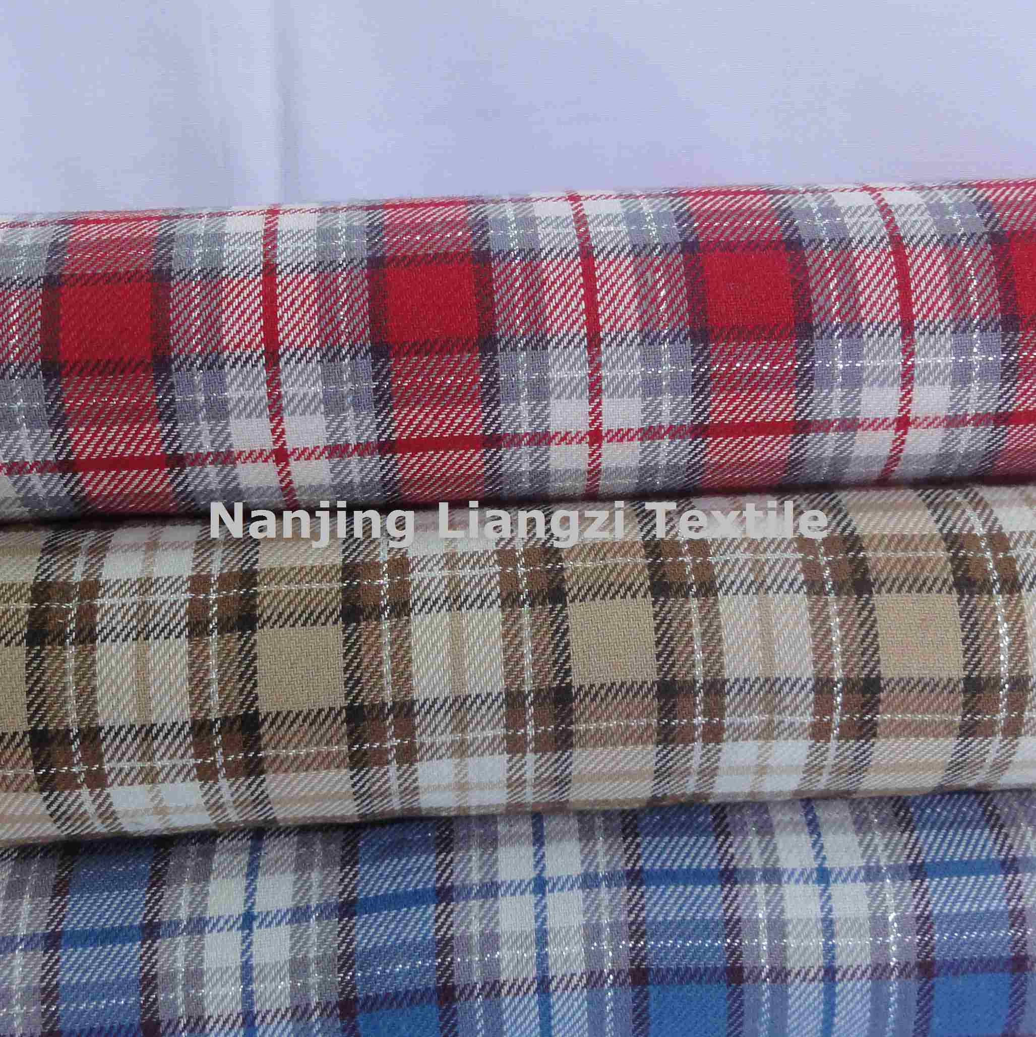 Cotton Yarn Dyed Twill Peached Check Fabric (LZ5411)