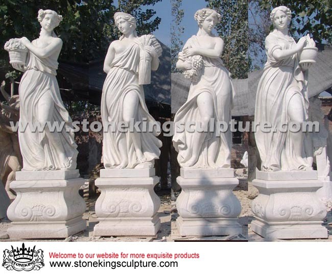 Hand Carved Natural Marble Sculpture (SK-2467)