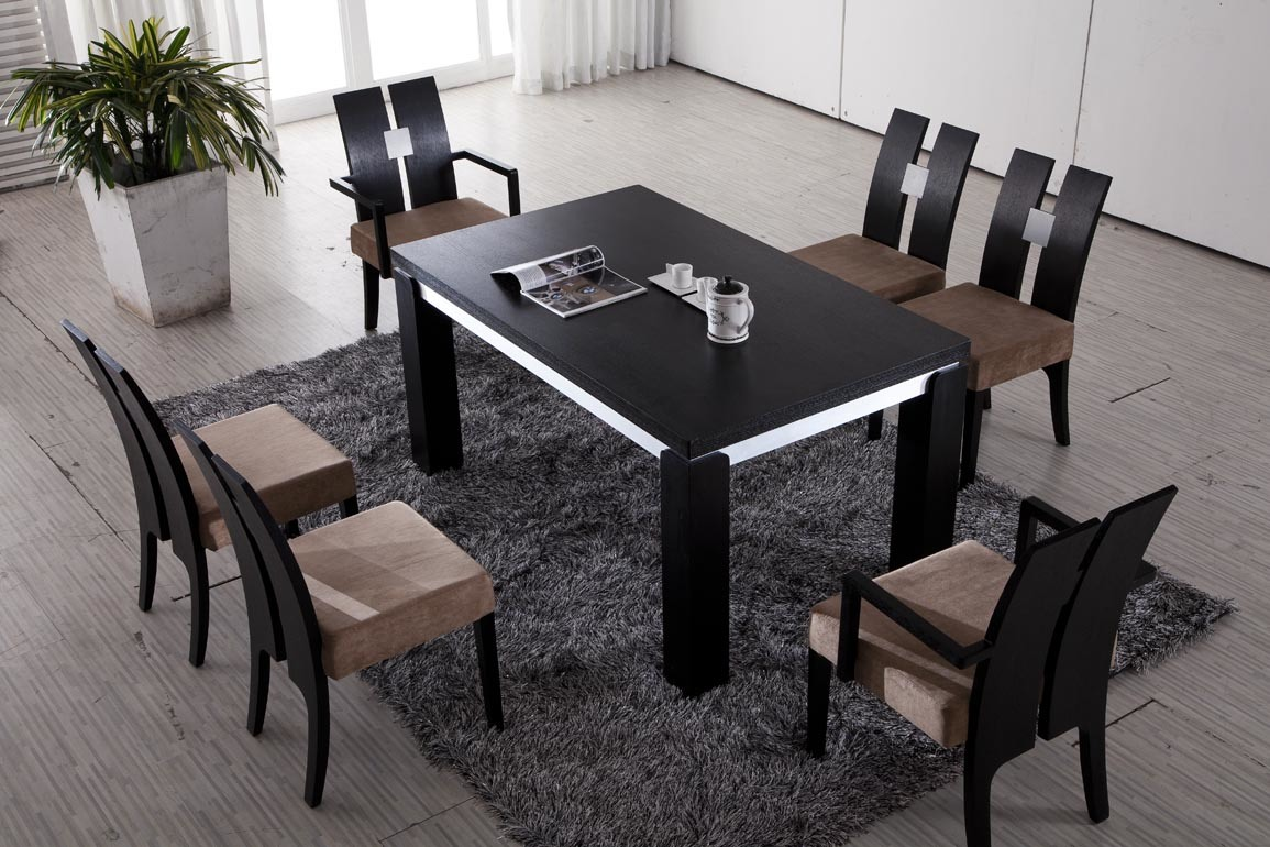 China modern wooden dining table 123 photos pictures for Stylish wooden dining table