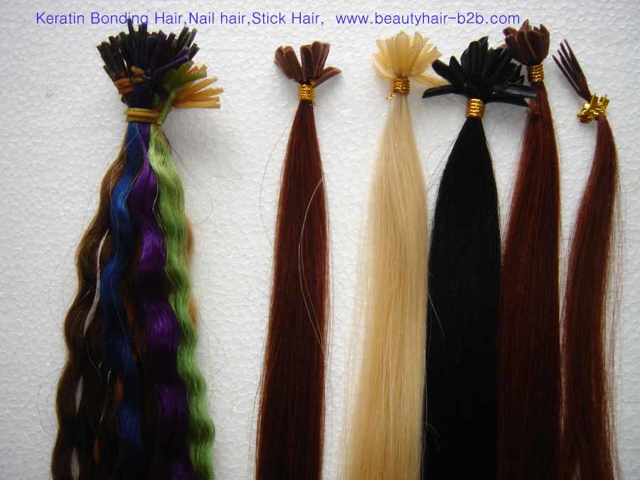 Keratin Bonding Hair,Pretipped Nail Hair,Stick Hair