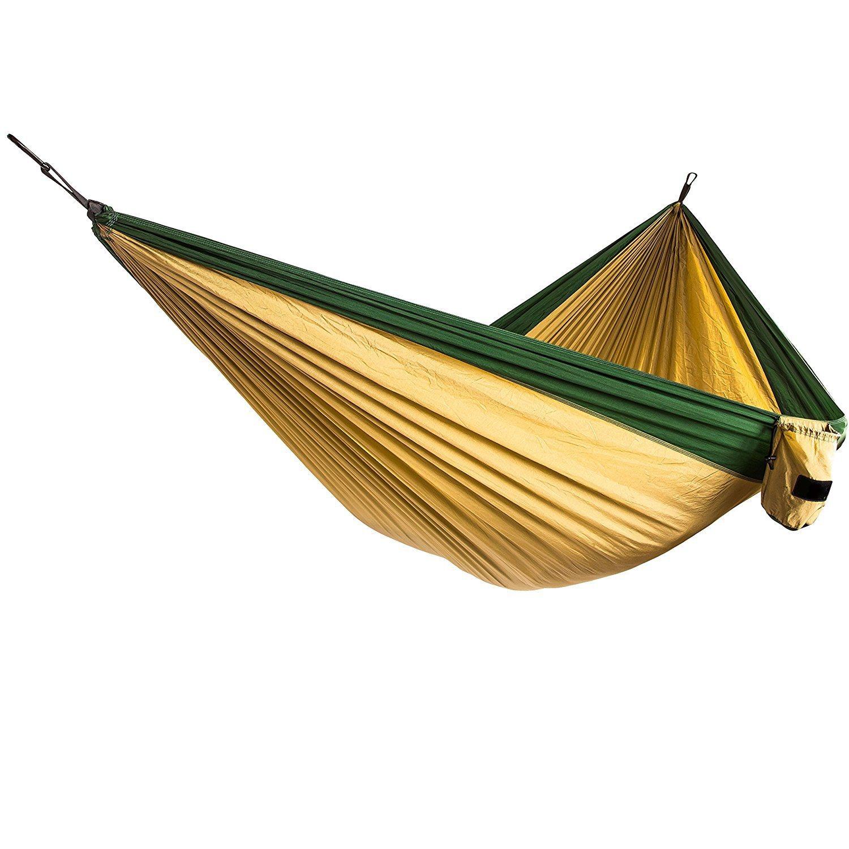 Portable Parachute Nylon Fabric Travel Camping Hammock.