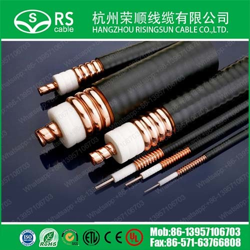 """7/8"""" Corrugated RF Leaky Feeder Cable Heliax Coax Cable"""
