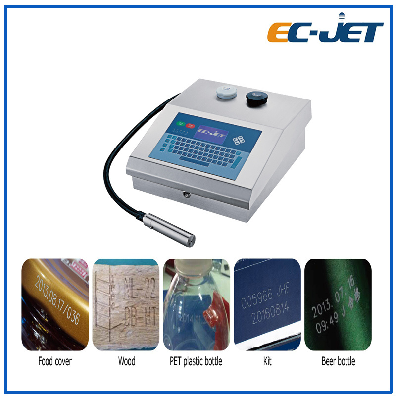 Small Character 1-4 Lines Cij Batch Number Automatic Industrial Inkjet Printer (EC-JET500)