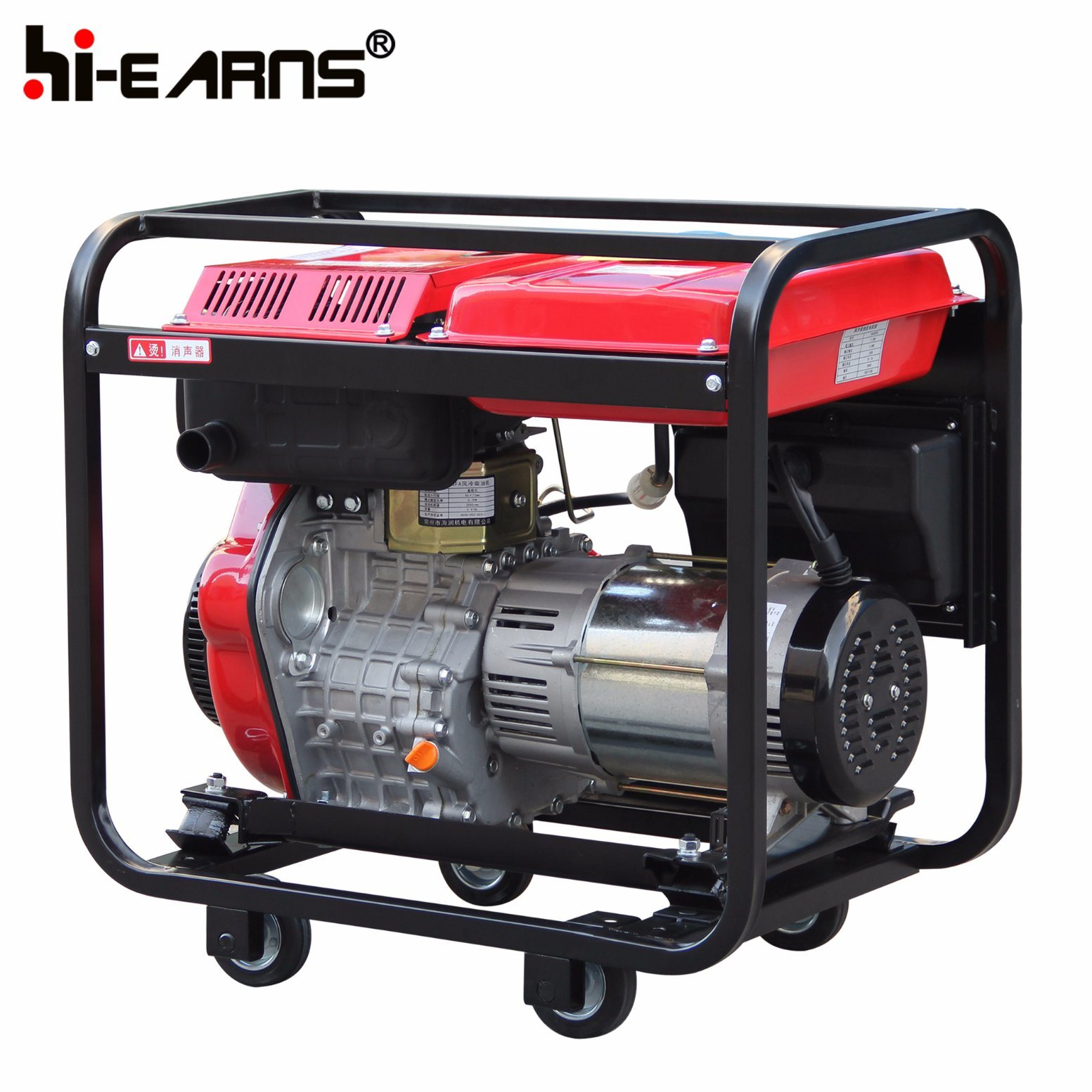 China 4 Stroke Air Cooled Diesel Generator Set DG6000 s