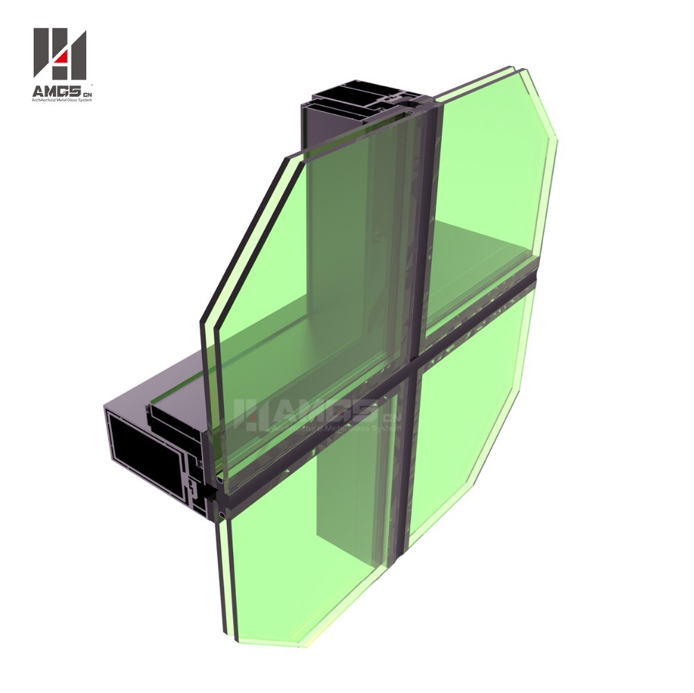 Glass Building Invisible Frame Curtain Wall Profile Decorative Glass Wall Panels