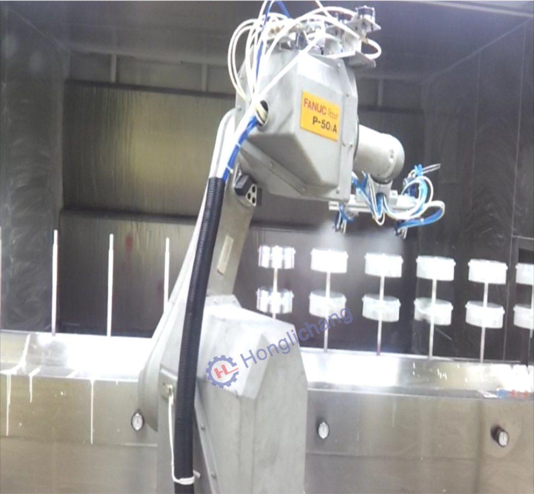 Robot Automati⪞ UV Coating Spray Paint Produ⪞ Tion Line