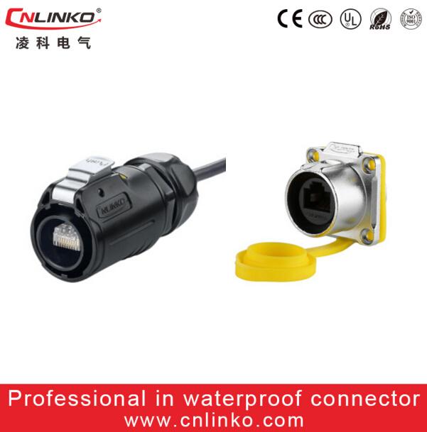 8p8c Network Connector/IP67 Connector RJ45/Water Resistance Ethernet RJ45
