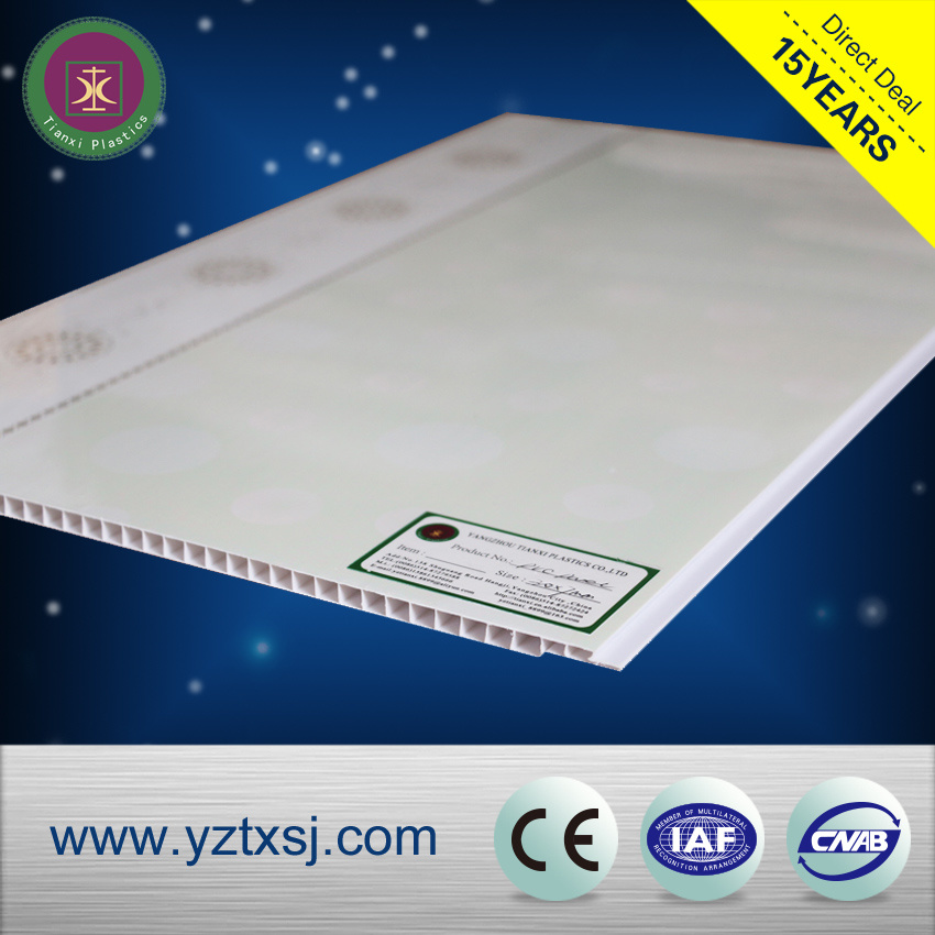 Two Grooves Laminated PVC Ceiling Boards