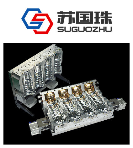 4 Cavities 500ml Water Bottle Blowing Mould for Linear Machine