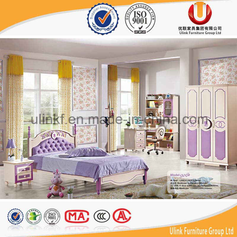 Poplular Princess Style Bedroom Furniture Kids Bed Set for Cheap Price (UL-H638)