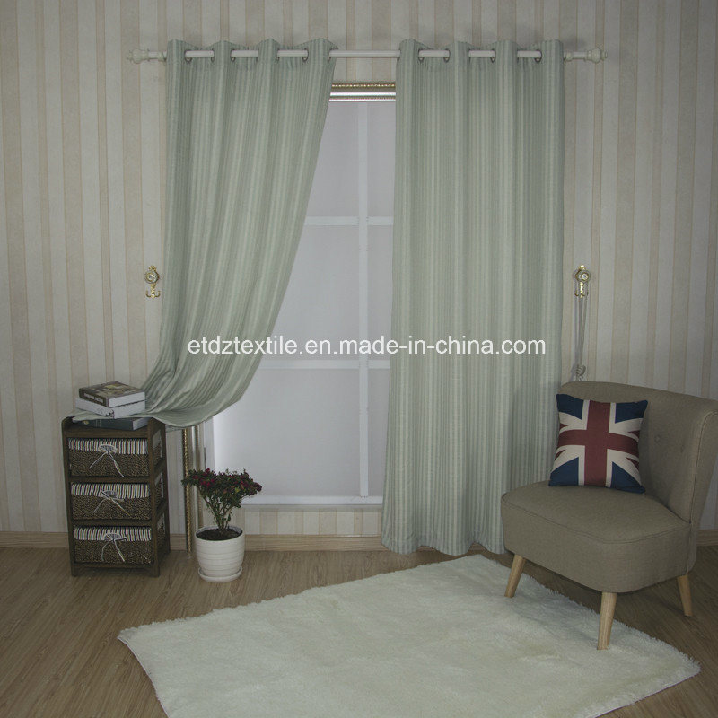 Modern Strip Pattern of Linen Touching Window Curtain Fabric