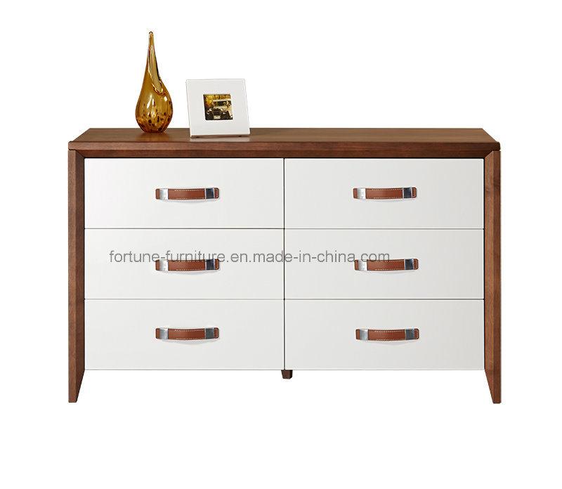 Bedroom Furniture/Wooden Walnut & White Dressing Table (Camel 1013)