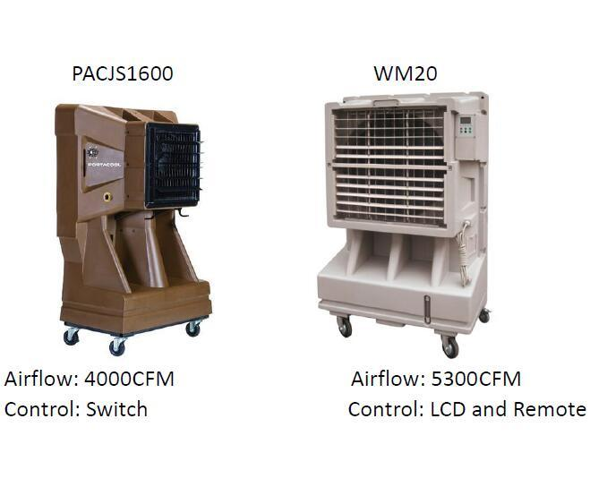 Portable Evaporative Air Cooler. Cooling Fan, Swamp Cooler for Sales and Rental