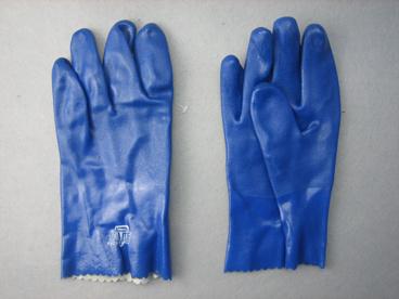Blue Triple Dipped PVC Smooth Finish PVC Glove-5131