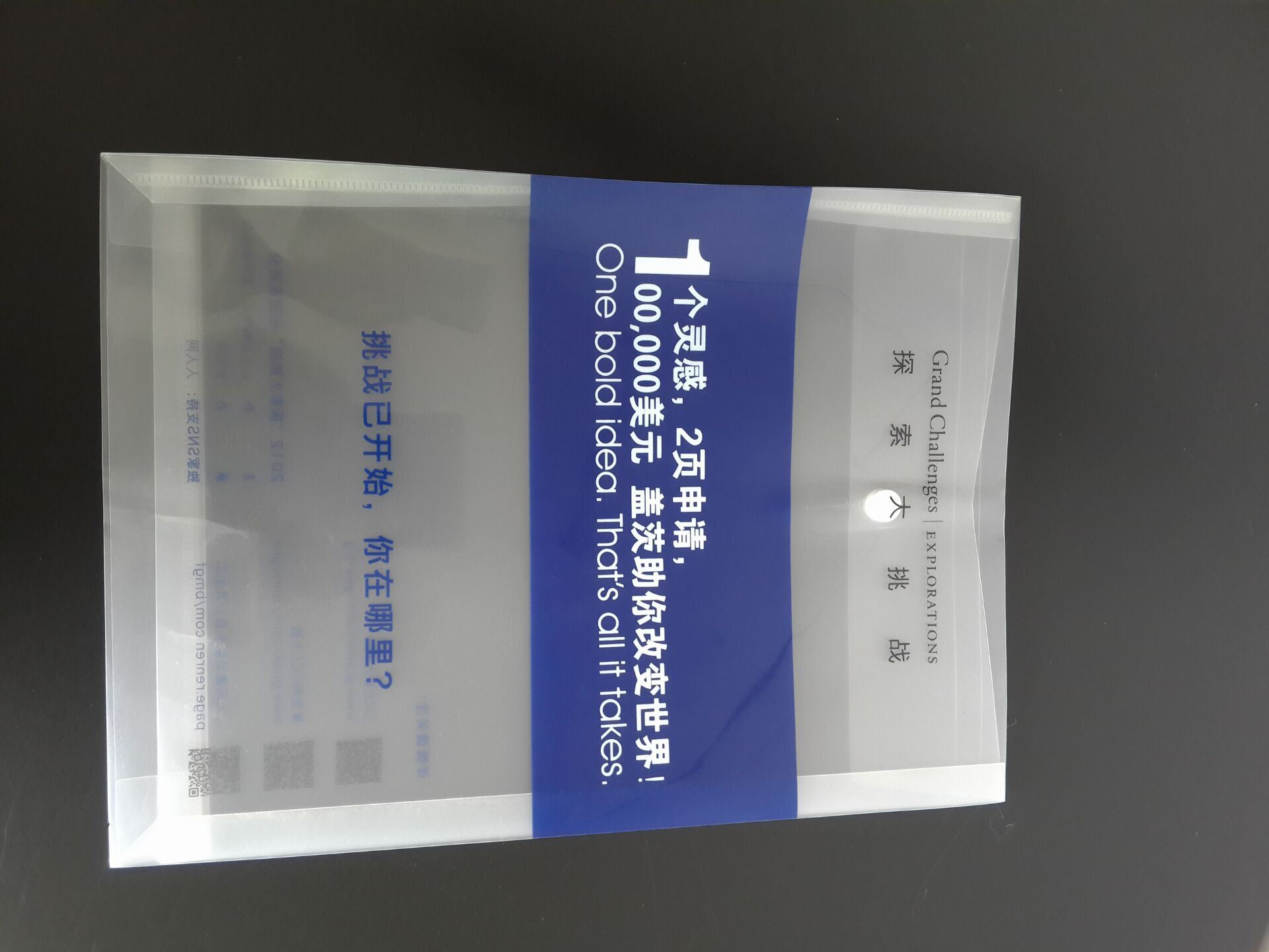 Advertising Logo Printed A4 Document File Bag file folder (file cover)
