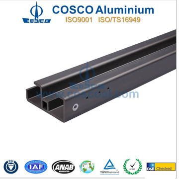 Powder Coating Aluminum Profile Extrusion for Building Material with CNC Machining