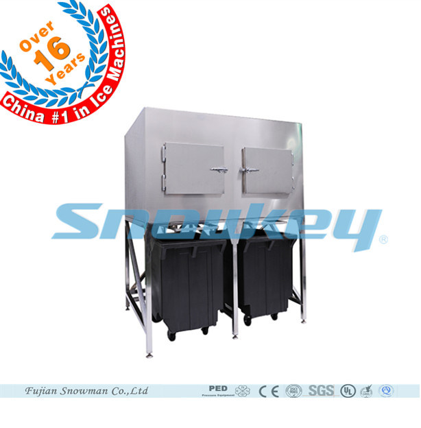 Commercial Flake Ice Machine with Ice Storage Bin 2016 Year Newest Design