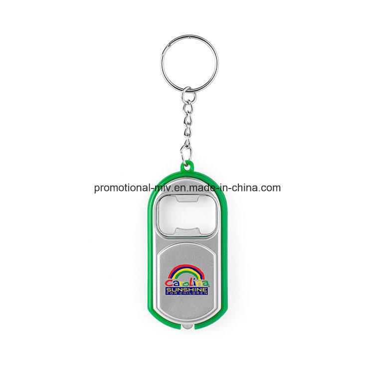 Functional Bottle Opener Keychains with LED Flashlight for Promotional Gifts