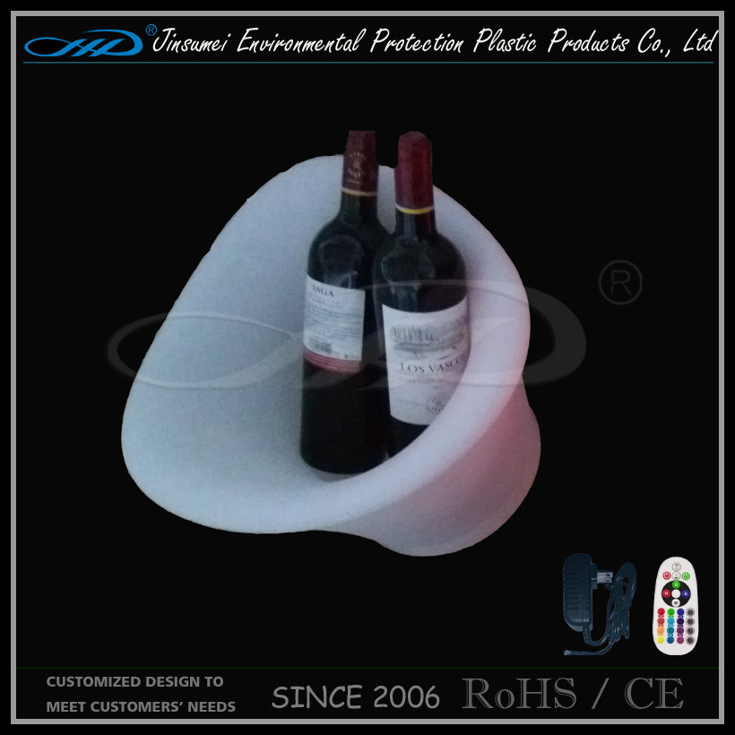 LED Illuminated Ice Bucket for Beer Bottles Holdering
