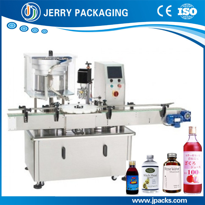 Automatic Wine Aluminum Cap Screwing Capping Machine for Glass Bottle