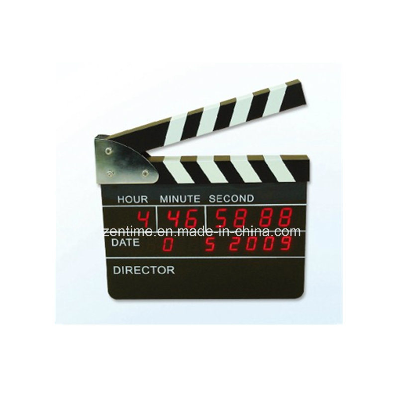 Electronic LED Movie Clapper Board Table/Wall Gift Clock