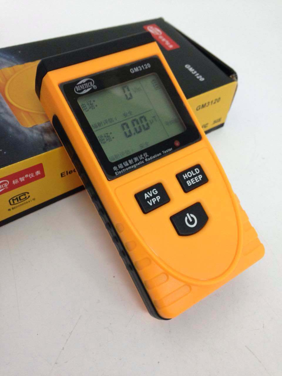 English Ui CE Certificated Digital LCD Electromagnetic Radiation Detector Meter Dosimeter Tester Without Battery