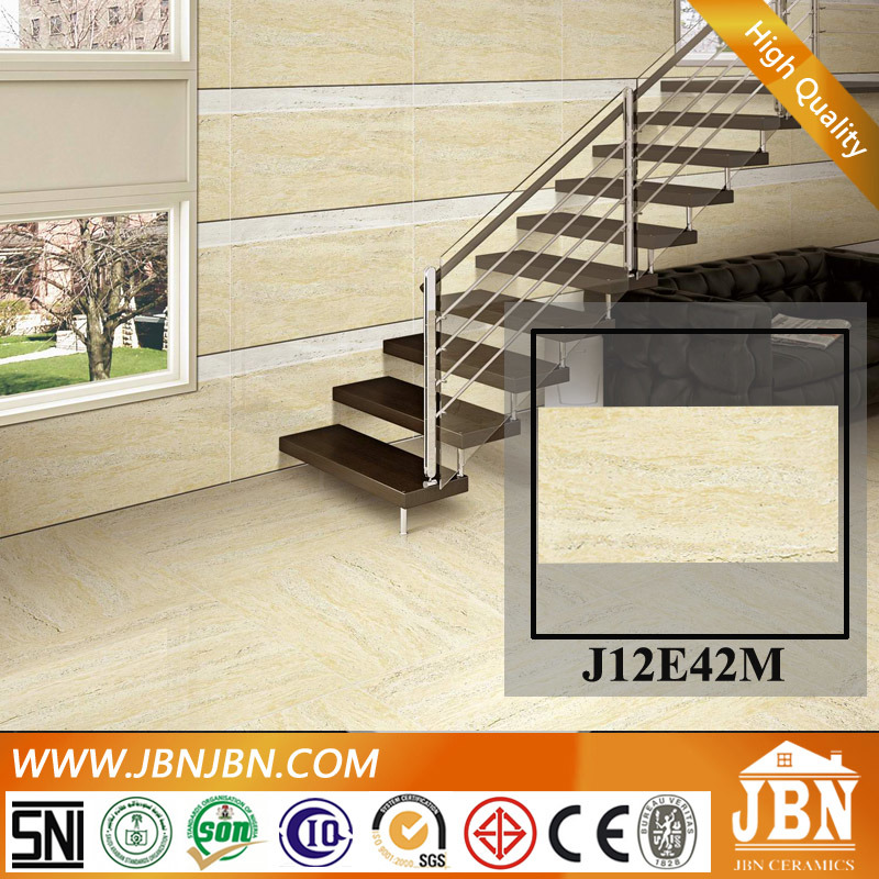 Travertino Matt Finish Porcelain Wall Tile with Size 600X1200 (J12E42M)