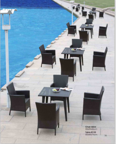 Modern Simple Outdoor Furniture Rattan Chair and Rattan Table