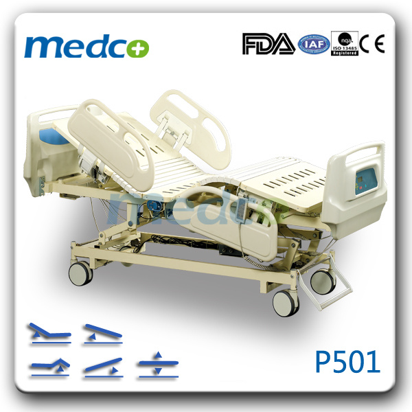 Medical Equipment Five-Function Electric ICU Hospital Bed