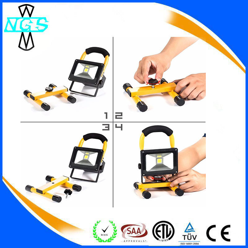 Easy to Handle LED Lamp Camping Emergency Rechargeable LED Flood Light 10W
