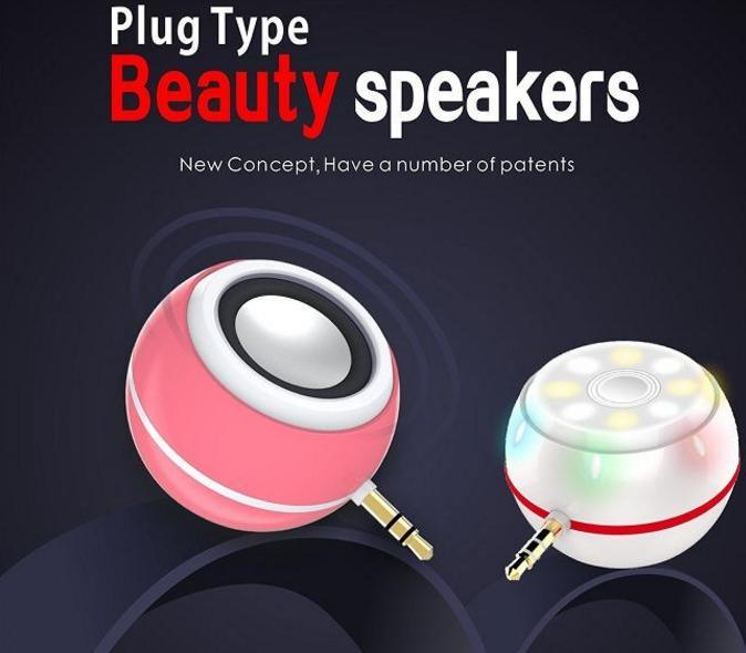 Beauty Speaker Portable Audio Device Fill-in Light Plus Mini Speaker Selfie Helper