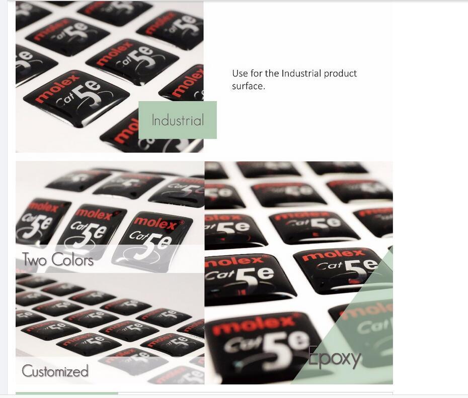Epoxy Sticker Customized Printing Epoxy Label, Label Printing Eco-Friendly Crystal Clear Ellipse Epoxy
