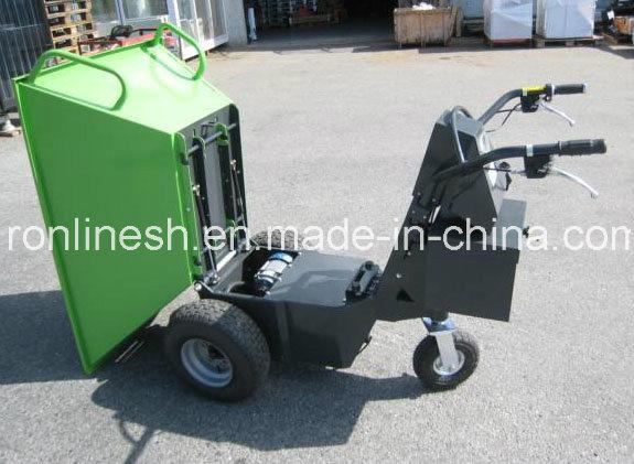 500kgs Track Electric Mini Dumper/Wheel Barrow/Muck Truck/Garden Transporter/Loader/Mini Transporter/Crawler Dumper CE